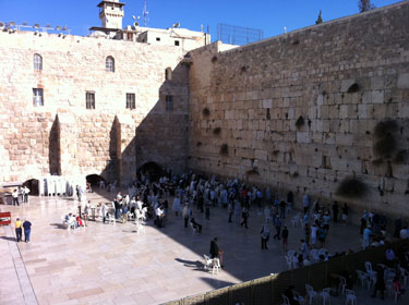 Wailing Wall in Jerusalem (last remaining wall of the 2nd Temple)